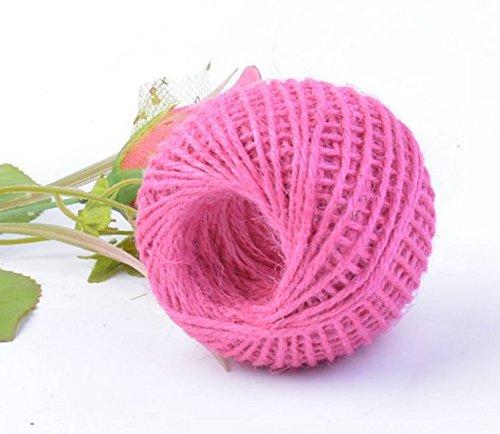 Ruban RICISUNG - 50 m - En chanvre - Ficelle - Corde - Cadeau - Boule, rose