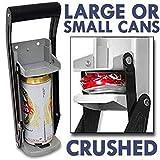16 oz Trituradora de latas de servicio pesado abrebotellas montado en la pared, aplasta latas de refresco, suministros de cocina para latas de cerveza de soda, herramienta de reciclaje ecológica