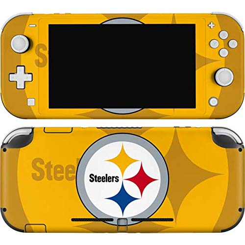 Skinit Decal Gaming Skin Compatible with Nintendo Switch Lite - Officially Licensed NFL Pittsburgh Steelers Double Vision Design