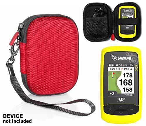 CaseSack Schutzhülle für Golf GPS, kompatibel mit Izzo Swami 4000+ Golf GPS und Swami 4000, Swami 5000 Golf GPS-Entfernungsmesser, Garmin Approach G30, G6, G7, Rot
