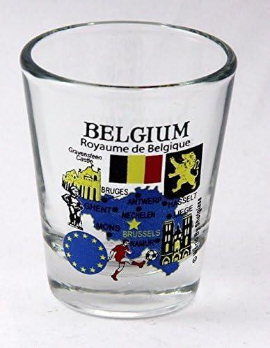 Belgium EU Series Regular dealer Landmarks Shot Icons and Glass Reservation