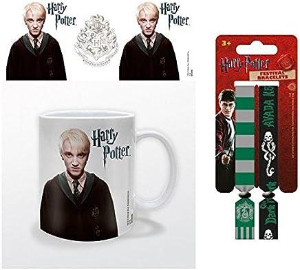 Preisvergleich für Set: Harry Potter, Draco Malfoy Foto-Tasse Kaffeetasse (9x8 cm) Inklusive 1 Harry Potter Armband (10x2 cm)