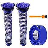 BluePower Ricambi e Kit Post-Filtro HEPA per Dyson V7 V8 Filtro di Ricambio Aspirapolvere,2 Pre e 1 Post filtri Accessorio per,Kit Filtro per Aspirapolvere Dyson Lavabile e Riutilizzabile