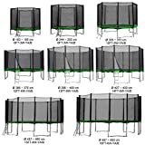 Gartentrampolin Kindertrampolin Trampolin 457 bis 460 cm hellgrün komplettes Set mit...