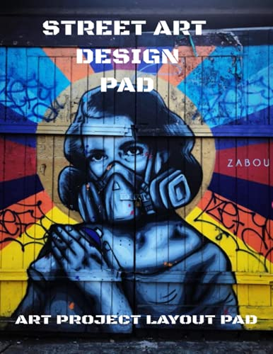 ART PROJECT LAYOUT DESIGN PAD WITH GRIDDED INTERIOR FOR EASE OF SETTING OUT DESIGN AND COLOUR PALLET: Urban Street Wall Art Design Aid Drawing Pad ... pages Great present for the budding Banksy