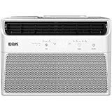 Emerson Quiet Kool Window Air Conditioner w 8000 Cooling and 4000 Btu Heating, 115V, Energy Star Certified, W LED display and Remote, EARE8RD1, 13.000, White