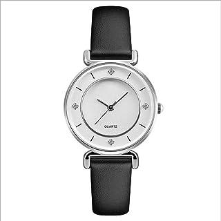 AIBOTY Womens Quartz Watch, Waterproof Leather Girls Watch, Rose Gold and Diamond Couple Watch