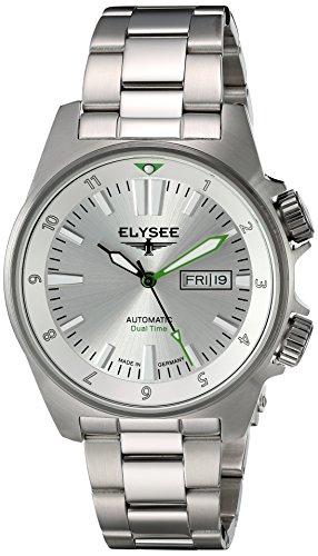 Elysee 87000 - Reloj de Pulsera Hombre, Acero Inoxidable, Color Plata