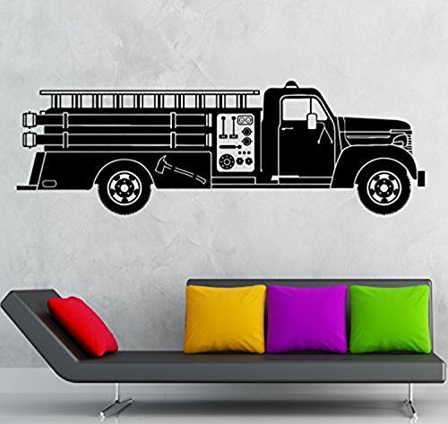Andre Shop® Wall Sticker Vinyl Decal Fire Engine Truck Great Kids Baby Room Decorig2017