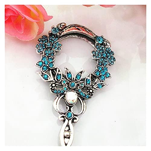 LYB Collar De Cristal Colgante Collar De Cristal Blanco Regalo De Cumpleaños Colgante (Color : Sky Blue)