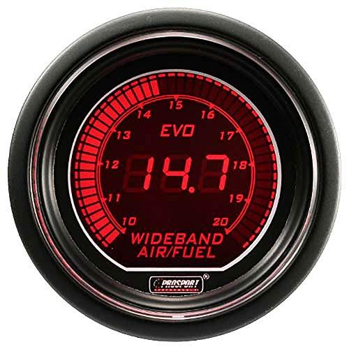 Prosport Gauges EVO Wideband 52mm Digital Air Fuel Ratio Kit for Car Engine