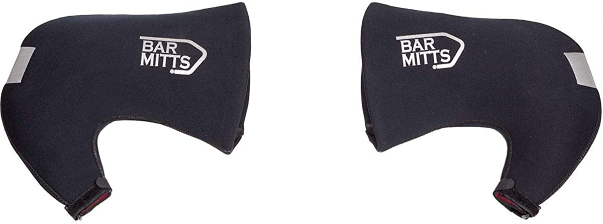 BAR MITTS Cold Weather Road Bicycle Handlebar Mittens, fits Campy/SRAM/Shimano Shifters with Internally Routed Cables, X-Large/Hydraulic Brake Levers, Black