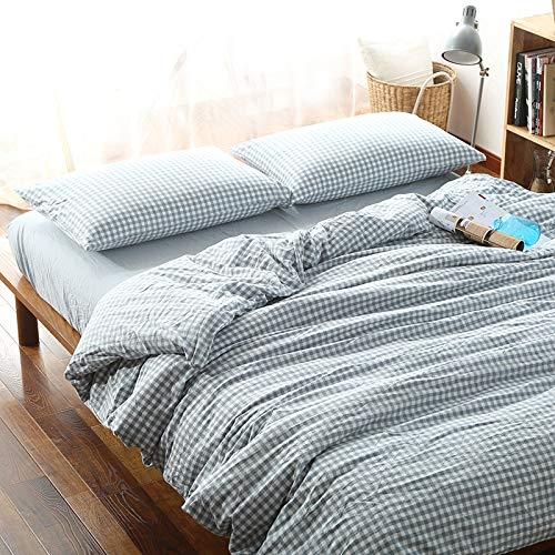 Moon's Sleepwares Bettwäsche-Set, 100 % Baumwolle, Fadenzahl 200, baumwolle, blau, Doppelbett