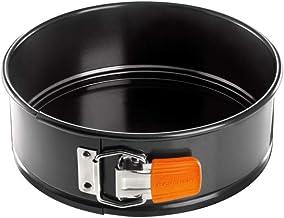 LE CREUSET 94101500000000 Toughened Non-Stick Bakeware Springform Round Cake Tin, 20 cm, Carbon
