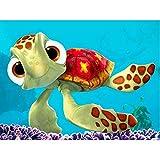 AQgyuh Puzzle 1000 Piezas Regalo de Arte de Tortuga de Dibujos Animados de Pintura Animal Puzzle 1000 Piezas paisajes Rompecabezas de Juguete de descompresión Intelectual Rompecabez50x75cm(20x30inch)