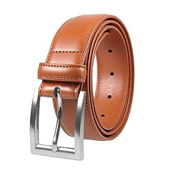 Gelante Men s Classic Dress Leather Belt G2064-Light Brown-L