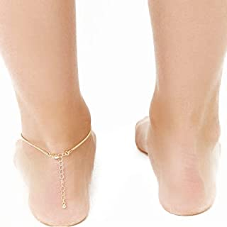 Jewelry New Anklet Accessories New Beach Anklet Simple Metal Color high Gloss Handmade Female K270