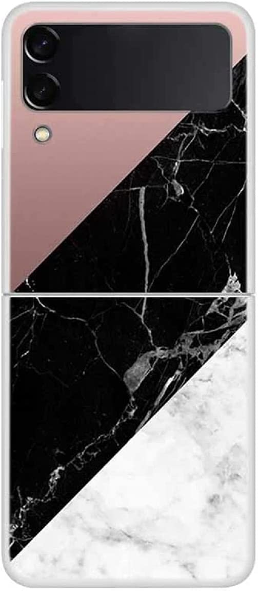 FUTURECASE Z Flip 3 Marble Case, Galaxy z Flip 3 Case Marble, Hard PC Samsung Z Flip 3 Marble Case Fashion Clear Bumper, Colorful Stone Marble Galaxy ZFlip 3 ZFlip3 Z Flip3 5G Funda Phone Cover(12)