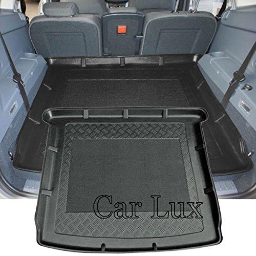 Car Lux AR00952 - Alfombra Bandeja Cubeta Protector Cubre Maletero a Medida con Antideslizante para Grand C-MAX