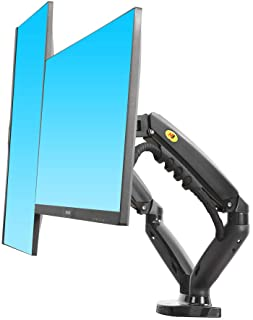 "NB New F160 Dual Monitor Full Motion Desk Mount with Gas Spring for Two Computer Monitors 17'' - 30"" LED LCD Flat Panel TV..."