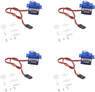 Feetech FT90R 360 Degree Continuous Rotation Micro RC Digital Servo Motor 6V 1.5kg for Arduino Microbit Geekstory(Pack of 4)