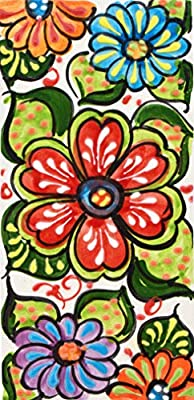 """House Numbers 6 inch. Handpainted House Number Tiles for Signs, addresses and Names. Address Numbers for Houses. House Address Numbers and Letters. Design Garden 5,71"""" x 2,76"""""""