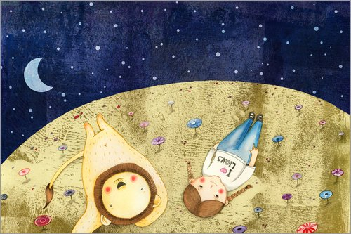 Posterlounge Lienzo 90 x 60 cm: Starry Sky de Judith Loske - Cuadro Terminado, Cuadro sobre Bastidor, lámina terminada sobre Lienzo auténtico, impresión en Lienzo