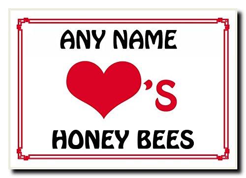 Liefdeshart Honing Bijen Gepersonaliseerde Jumbo Magneet