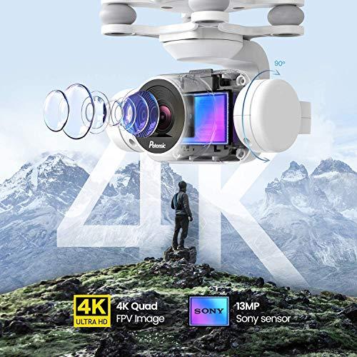 Potensic Dreamer Drone con Telecamera 4K per Adulti, Tempo di Volo di 31 Minuti Quadricottero RC con Motore Brushless, Ritorno a Casa, Funzione Hovering, Seguimi, 5.8G WiFi