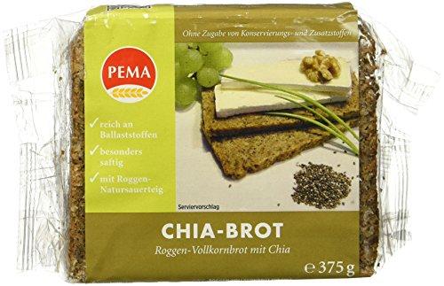 PEMA Roggenvollkornbrot mit Chia, 8er Pack (8 x 375 g)