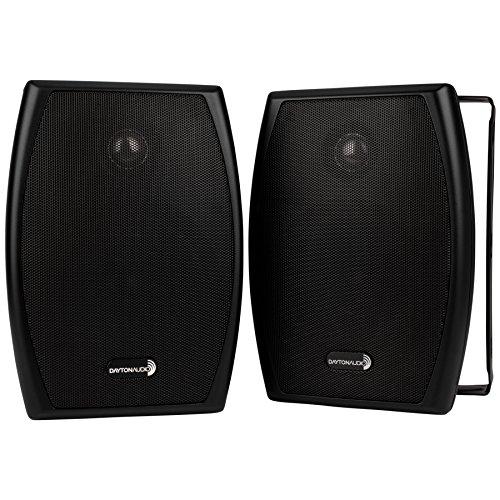 "Dayton Audio IO525BT 5-1/4"" 2-Way 70V Indoor/Outdoor Speaker Pair Black"