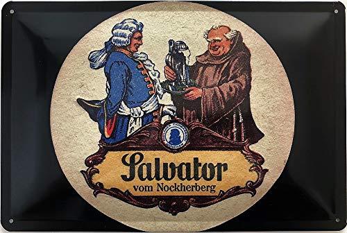 Deko7 Blechschild 30 x 20 cm Paulaner Bier Salvator vom Nockherberg