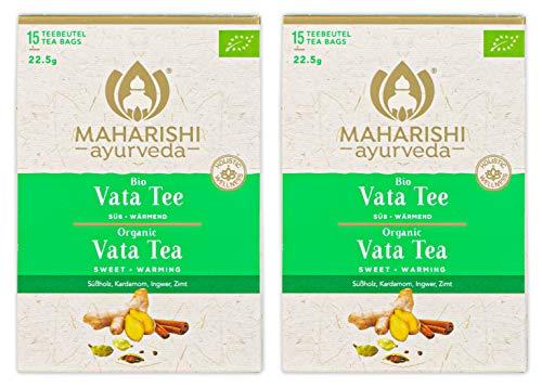 Maharishi Ayurveda - Vata Tee - Doppelpack - süß wärmend - Bio (2 x 15 Teebeutel, 45 g)