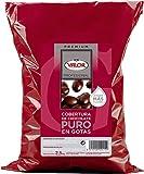 Cobertura de Chocolate Negro en Gotas - Valor. Pack 2,5 Kg