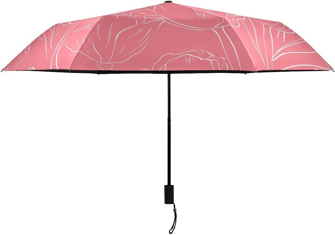 Red Flower Plant Outstanding Parasol Compact Umbrella Don't miss the campaign Gr Nano Rain RainWind