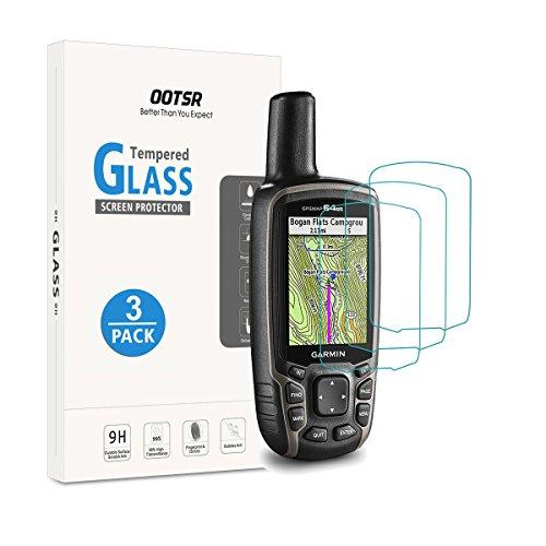 OOTSR (3 pezzi) Proteggi schermo in vetro temperato per Garmin GPSMAP 62 62s 62st 62sc 62stc 64 64s 64st 64sc Pellicola Protettiva [Anti-graffio]