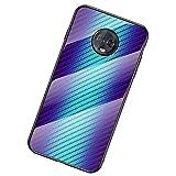 UKDANDANWEI Moto G6 Plus Coque,Etui de Téléphone en Fibre de Carbone et Verre Trempé Transparent...