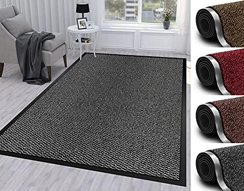 Door Mat For Indoor & Outdoor 120x180cm Grey Washable Large Kitchen Barrier Mat Heavy Duty Non-slip...