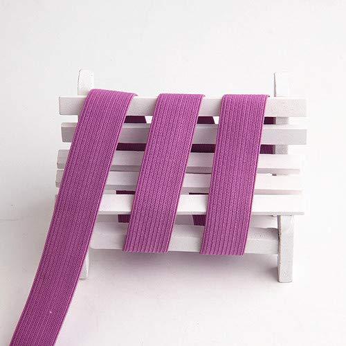 Kleur vlakke naad voor het naaien van elastische ondergoed elastische zachte kledingaccessoires Panty elastiek in de taille 1m,26 paars
