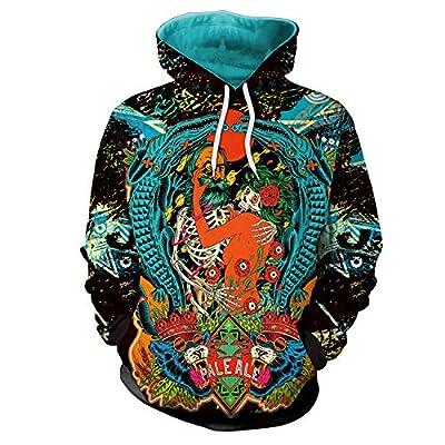 Mrsrui Men's Patterns Print 3D Sweaters Fashion Hoodies Sweatshirts Pullover