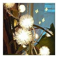 ロマンティッシュ クリスマスライト、バッテリー1.5 /ベッドルームの壁と窓の装飾に適しのために3メートルのLEDライト、ふわふわスノーボールストリングライト クリスマスの飾り (Color : Warm White, Size : Battery 3M 24LED)