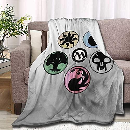 Andea Magic The MTG Gatheringr - Manta suave para sofá cama (antibolitas y calientes)