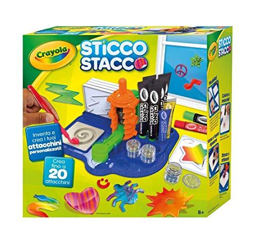 Crayola. STICCO STACCO INVENTA Crea ATTACCHINI Regalo Idea Regalo + Kit Omaggio 30 Penne Glitterate