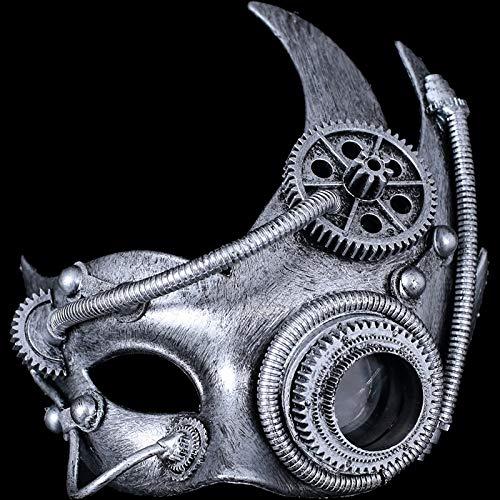 Steampunk Plague Mask, Steam Punk Phantom Of The Opera Vintage Mechanical Cosplay Maskers Halloween kostuum Props for mannen vrouwen