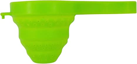 Japanese Green Silicone Collapsible Tea Strainer, 5 1/4 Inch