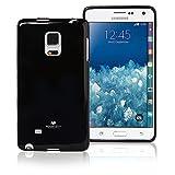 Goospery Pearl Jelly for Samsung Galaxy Note Edge Case (2014) Slim Thin Rubber Case (Black) NT4E-JEL-BLK