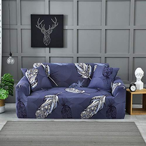 Fsogasilttlv Schonbezug Multifunktio 2-Sitzer und 4-Sitzer, Bedruckte Schonbezüge Stretch Plaid Sofabezüge für Wohnzimmer, elastische Couch Stuhl Handtuch Home Decor 2PCS