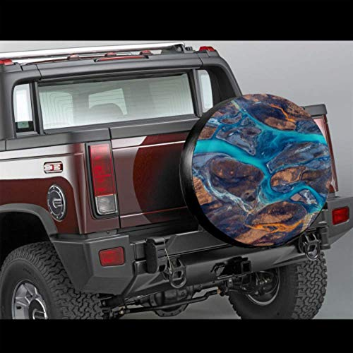 LYMT Artistiek Mooie Riverside Scenery Kleur Wiel Beschermer Auto Band Wiel Cover Band Cover Fit voor Trailer, rv, SUV en Veel Voertuig 14-17inch