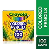 Crayola Colored Pencils Adult Coloring Set, Gift, 100 Count