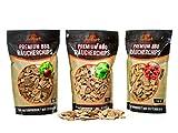grillart Premium BBQ Räucherchips XL Mix 3er Set für EIN besonderes Raucharoma – sehr rauchaktives Räucherholz/Holzhackschnitzel – Smoker Zubehör - Vorteilspack...